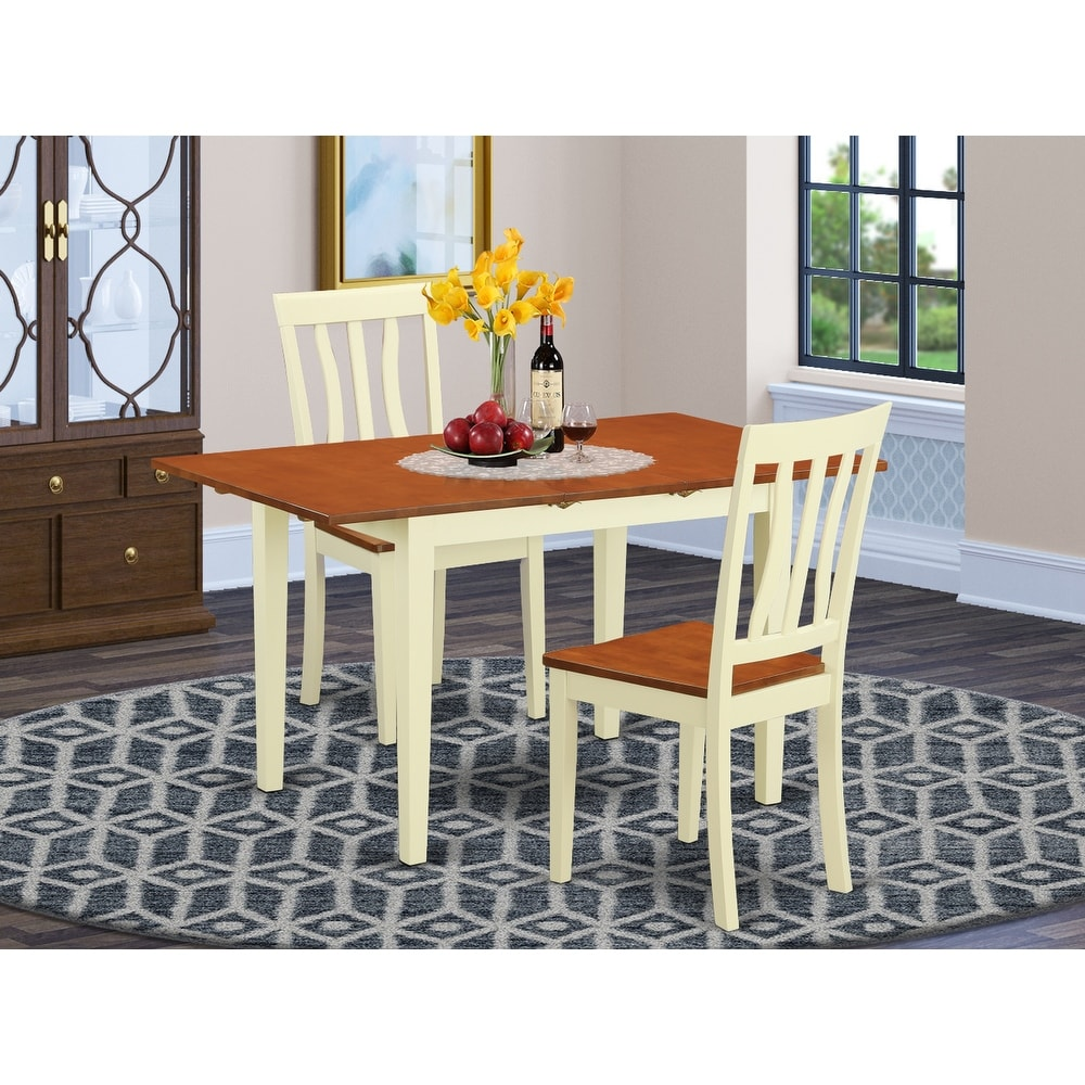 Small Spaces Homury 3 Piece Dining Table Set With Cushioned Chairs Small Kitchen Table Set With