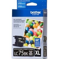 Brother LC75BKB Brother LC75BK High Yield Ink Cartridge Black