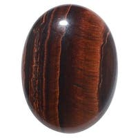 Red Tiger Eye Gemstone Oval Flat-Back Cabochons 40x30mm (1 Piece)