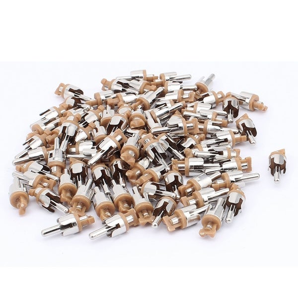 RCA Audio Video Male Plug Adapter Soldering Connector Silver Tone 80PCS