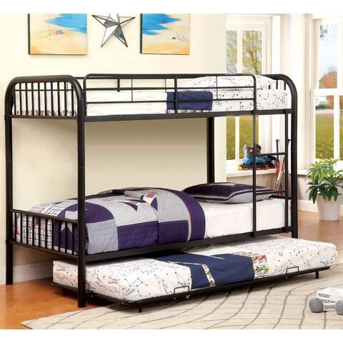 Furniture of America Wila Modern Twin/Twin Metal Bunk Bed