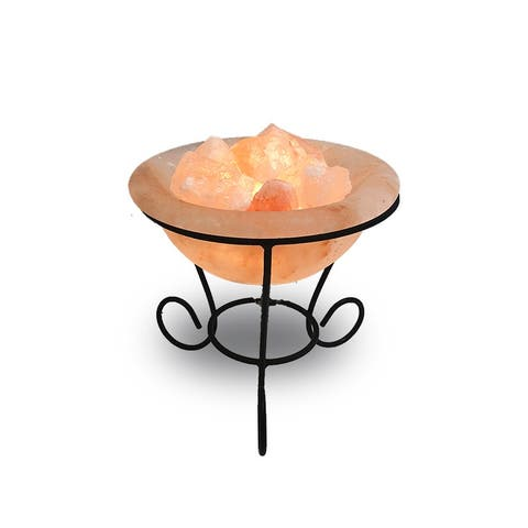 Sheffield Bowl Himalayan Salt Lamp - Orange