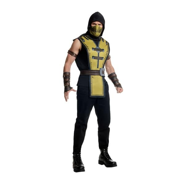 Shop Mens Mortal Kombat X Scorpion Halloween Costume Overstock