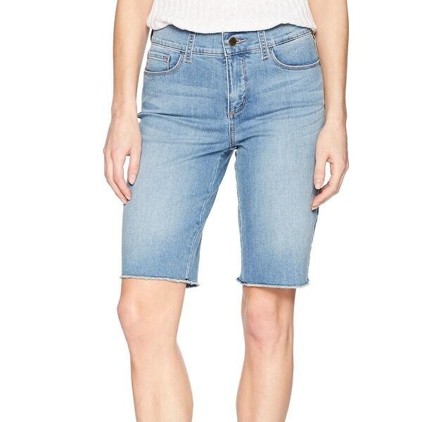 NYDJ Blue Womens Size 6 Raw Hem Tummy Control Briella Denim Shorts