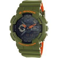 Casio Men's G Shock GA110LN-3A Green Rubber Quartz Sport Watch