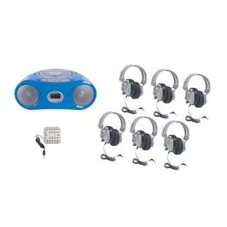 HamiltonBuhl Basic Cassette/CD/AM-FM Listening Center 6 stations
