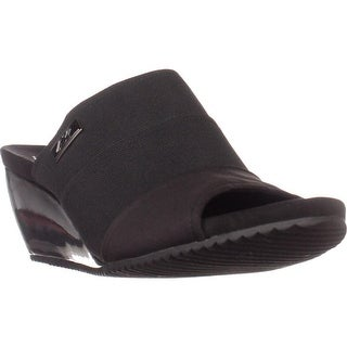 AK Anne Klein Sport Chanay Slip On Sandals, Black/Black (2 options available)
