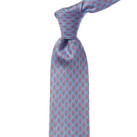 Bonobos Airy Blue Crescent Floral Silk Tie - os