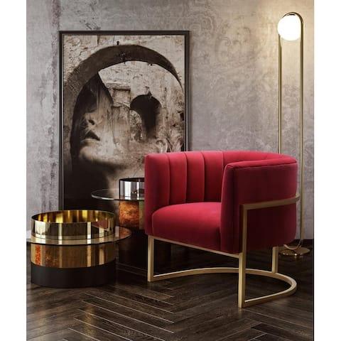 Magnolia Handmade Hot Pink Velvet Upholstered Chair