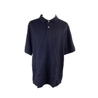 Club Room Big & Tall Navy Blue Cross Haven Polo Shirt LT