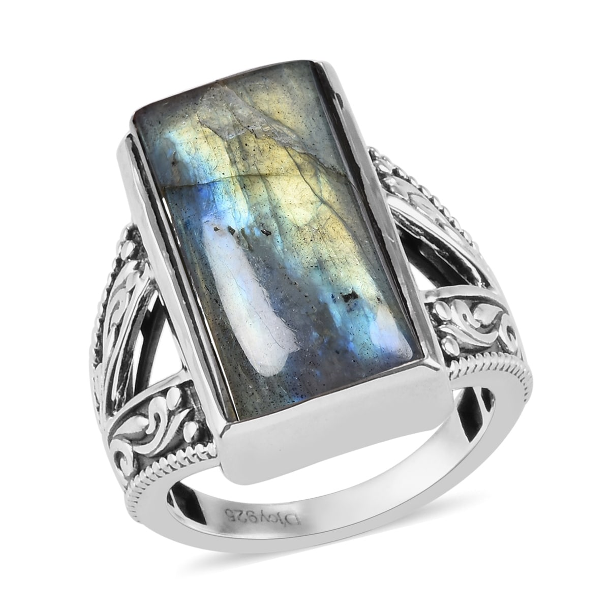 Sale low price Natural Labradorite solitaire Ring 925 Sterling silver stamped,engagementWedding ring All sizes.