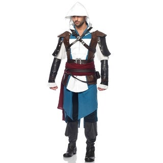 Leg Avenue Assassin's Creed Edward Adult Costume - White/Blue