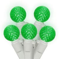 Green LED G12 Berry Fashion Glow Christmas Lights - White Wire,