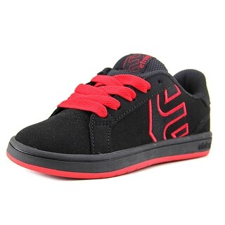 Etnies Kids Fader LS Youth  Round Toe Synthetic Black Skate Shoe