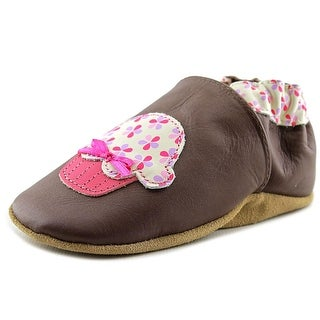 Robeez Cupcake Infant Round Toe Leather Brown Bootie