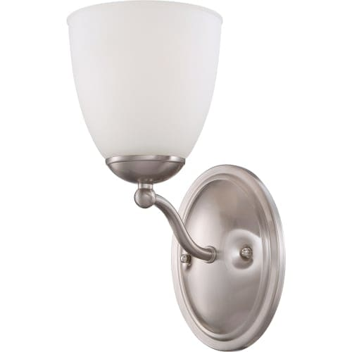 Nuvo Lighting 60/5051 Patton ES Single-Light Bathroom Fixture with Frosted Glass Shade