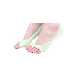 Women Low Cut No Show Heel Grip Toeless Boat Socks 6 Pairs Green 9-11