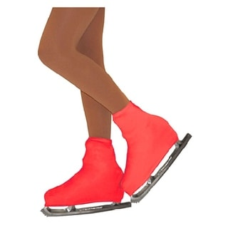 Chloe Noel Girls One Size Red Boot Cover Figure Skating Accessory