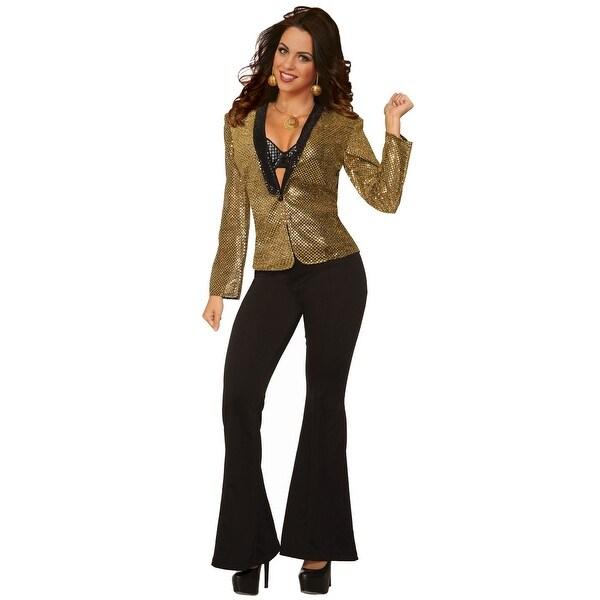 062d80ad3 Forum Novelties Women's Gold Disco Sequin Blazer - Standard