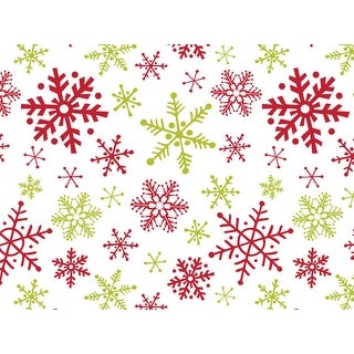 """Pack Of 120, Chalkboard Snowflakes Recycled Christmas Printed Tissue Paper 20"""" x 30"""" Sheets Half Ream"""