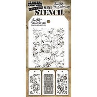 Tim Holtz Mini Layered Stencil Set 3/Pkg-Set #25
