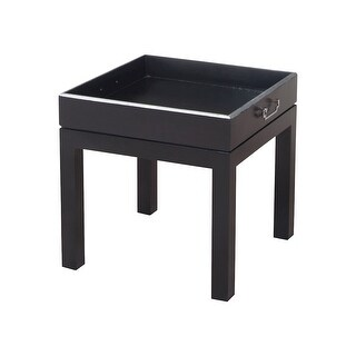 """GuildMaster 7116549  20"""" Wide Mahogany Accent Table - Grain De Bois Noir"""