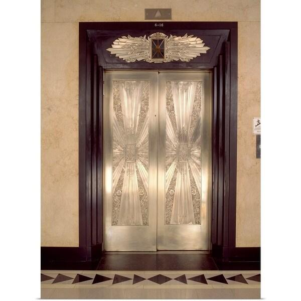 Shop Nickel Metalwork Art Deco Elevator Doors Two North