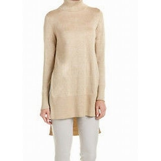 Vince Camuto NEW Gold Women's Size Large L Turtleneck Tunic Sweater