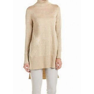 Vince Camuto NEW Gold Women's Size Small S Turtleneck Tunic Sweater