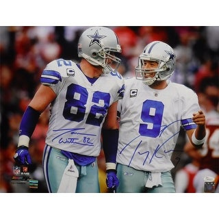 Tony Romo Jason Witten Autographed Dallas Cowboys 16x20 photo JSA
