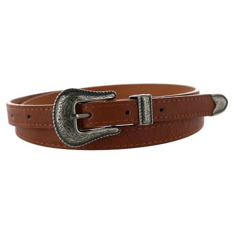 CTM® Women's Skinny Western Belt - one size