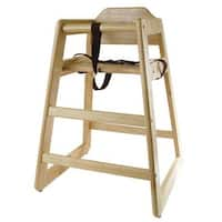 Winco - CHH-101 - Natural Finish Wood High Chair