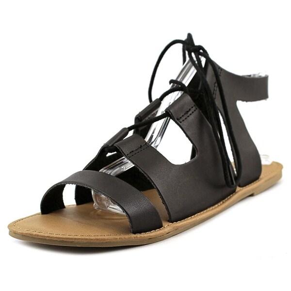 Mia Delphine Women Open Toe Leather Gladiator Sandal
