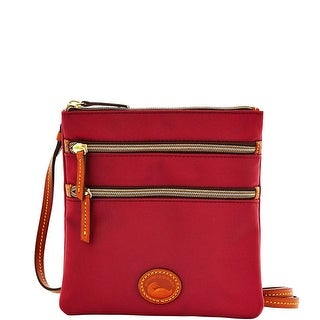 Dooney & Bourke Nylon North South Triple Zip (Introduced by Dooney & Bourke at $89 in Jul 2014) - Cranberry