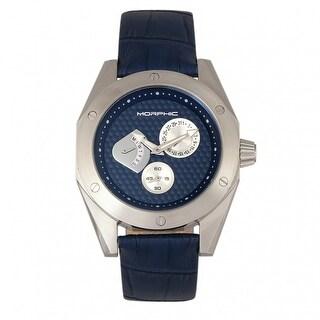 Morphic M46 Series Men's Quartz Watch, Genuine Leather Band, Luminous Hands