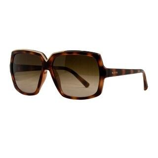 Valentino V 604S 215 Dark Havana Classic Square Sunglasses