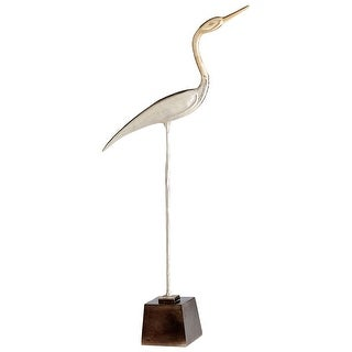 Cyan Design 09779  Shorebird Aluminum Bird Statue - Nickel