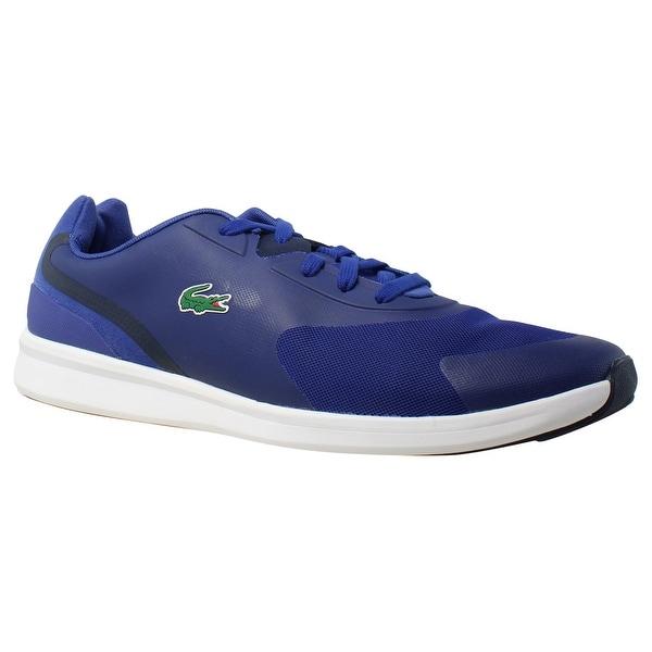 675b28e037 Shop Lacoste Mens Ltr.01 316 Blue Fashion Shoes Size 11.5 - Free ...