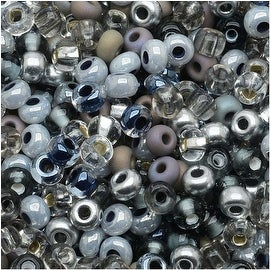 Czech Seed Beads 8/0 Silver Wares Mix (1 Ounce)