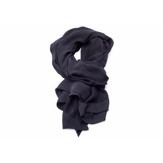 Valentino Women's Black Solid Silk Scarf