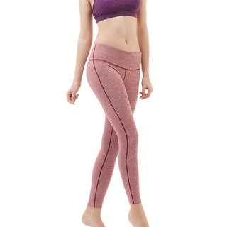 Tesla FYP41 Women's Mid-Waist Ultra-Stretch Yoga Pants - Space Dye Red (2 options available)