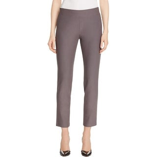 Eileen Fisher Womens Petites Ankle Pants Crepe Washable