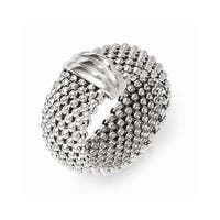 Italian Sterling Silver Mesh Ring - Sizes 6 - 8