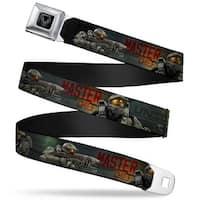 Halo Spartan Ii Program Seal Full Color Black Silver Unsc Master Chief John Seatbelt Belt