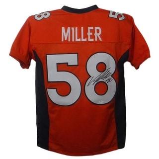 Von Miller Autographed Denver Broncos Custom Size XL Orange Jersey On 8 JSA