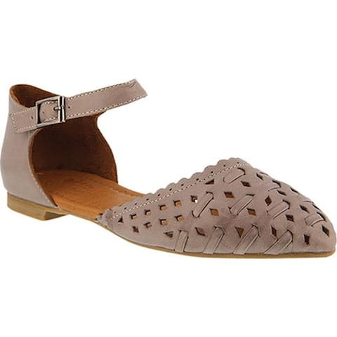 Spring Step Women's Junita Ankle Strap Taupe Leather