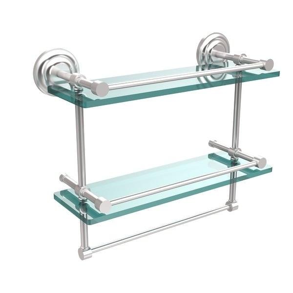Allied Brass Gallery Double Glass Shelf with Towel Bar