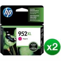 HP 952XL High Yield Magenta Original Ink Cartridge (L0S64AN)(2-Pack)