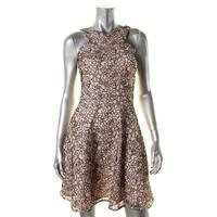 Aqua Womens Casual Dress Floral Print Pullover