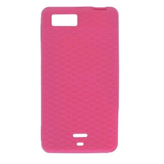 Silicone Gel Case for Motorola Droid X MB810, MB809 - Hot Pink